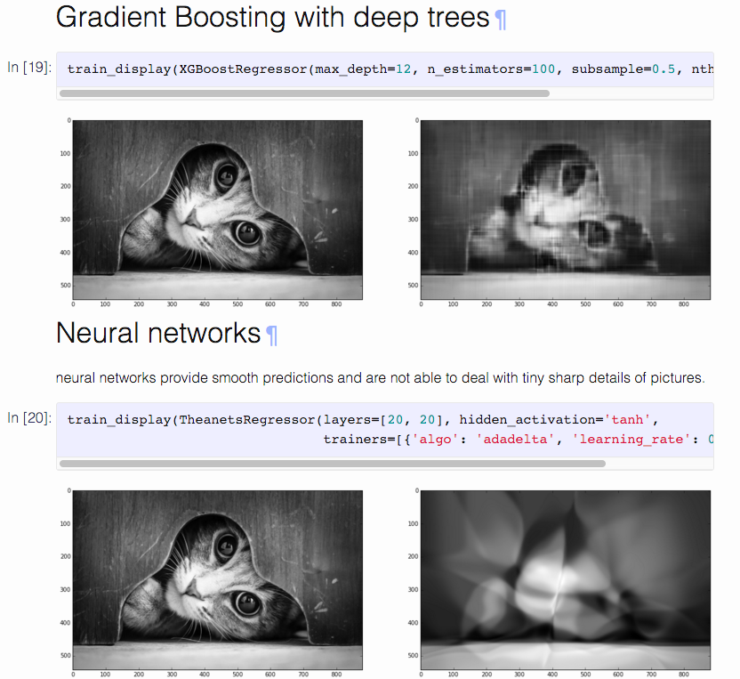 reconstructing an image with machine learning